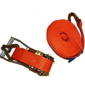 Ιμάντας πρόσδεσης πορτοκαλί 5000 DAN, μήκους 9m με καστάνια και γάτζο ανοικτού τύπου